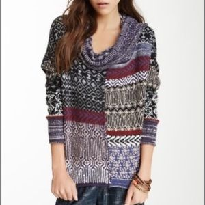 Free People Cowl Neck Americano Sweater Size S